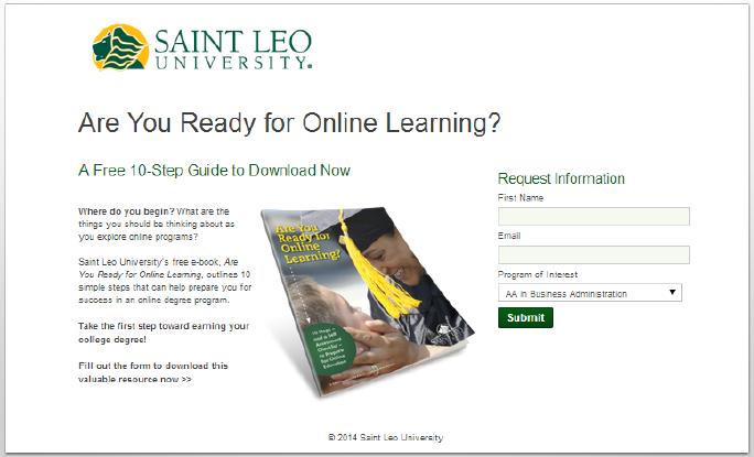 landing page inbound marketing