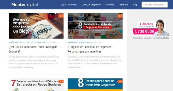 Blog para promocionar una tienda online