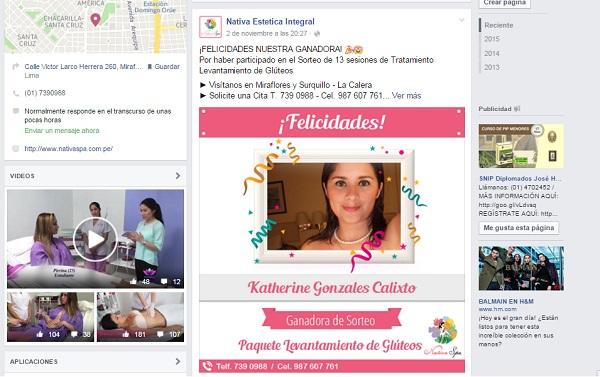 Concursos en redes sociales