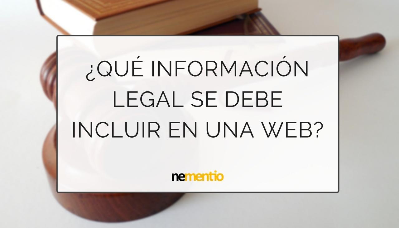 informacion legal incluir en una web