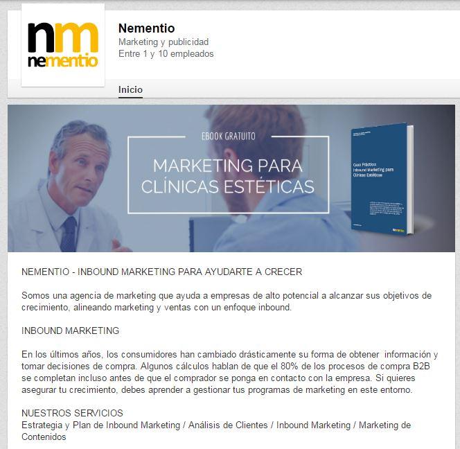 Perfil de Nementio en LinkedIn