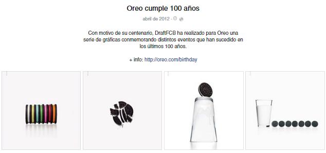 Campaña Facebook Oreo 100 años